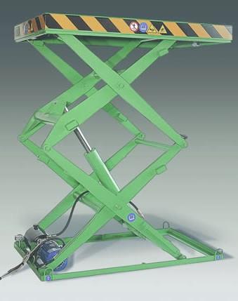 Piattaforma elevatrice a pantografo doppia forbice