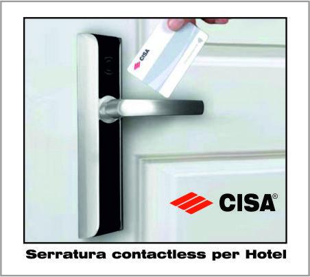 Serrature elettroniche Cisa per Hotel