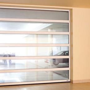 Portone sezionale vetrato industriale Wisniowski