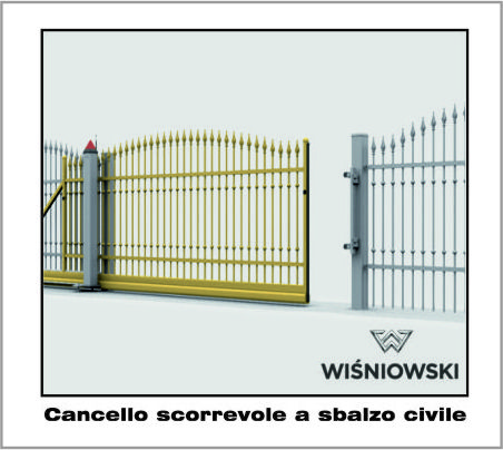 Cancello Scorrevole a sbalzo Civile o Industriale Wisniowski