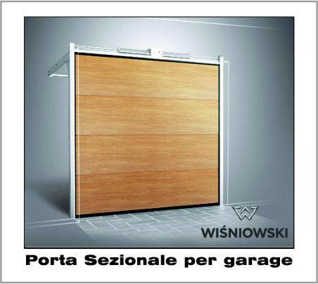 Porte per Garage Sezionali colori Ral o Effetto Legno Wisniowski